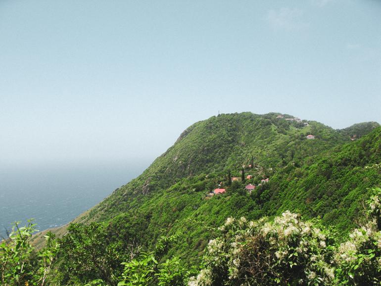prachtige bergen op Saba