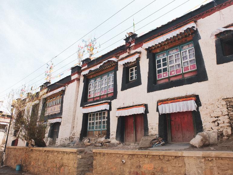 Tibetaanse architectuur in Shigatse Tibet
