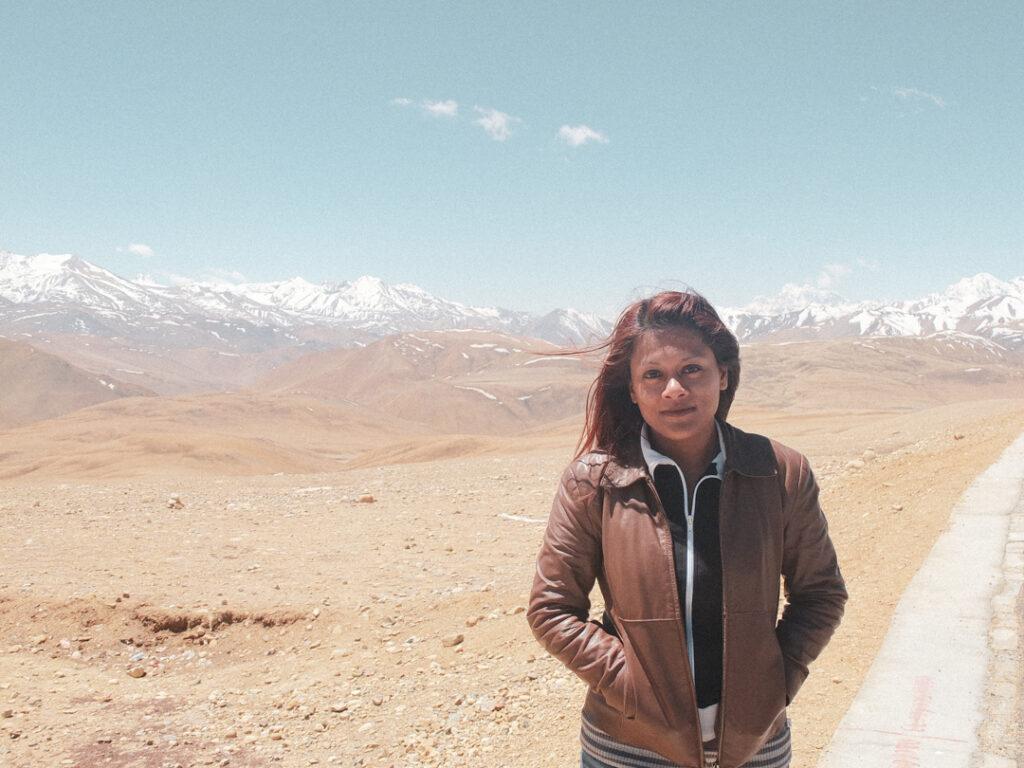 besneeuwde Himalayatoppen in Tibet
