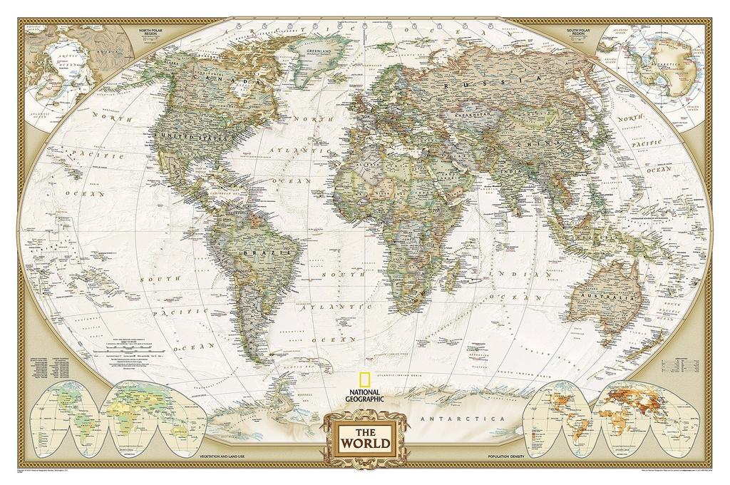 Wereldkaart NatGeo the World YourTravelReporter.nl 9